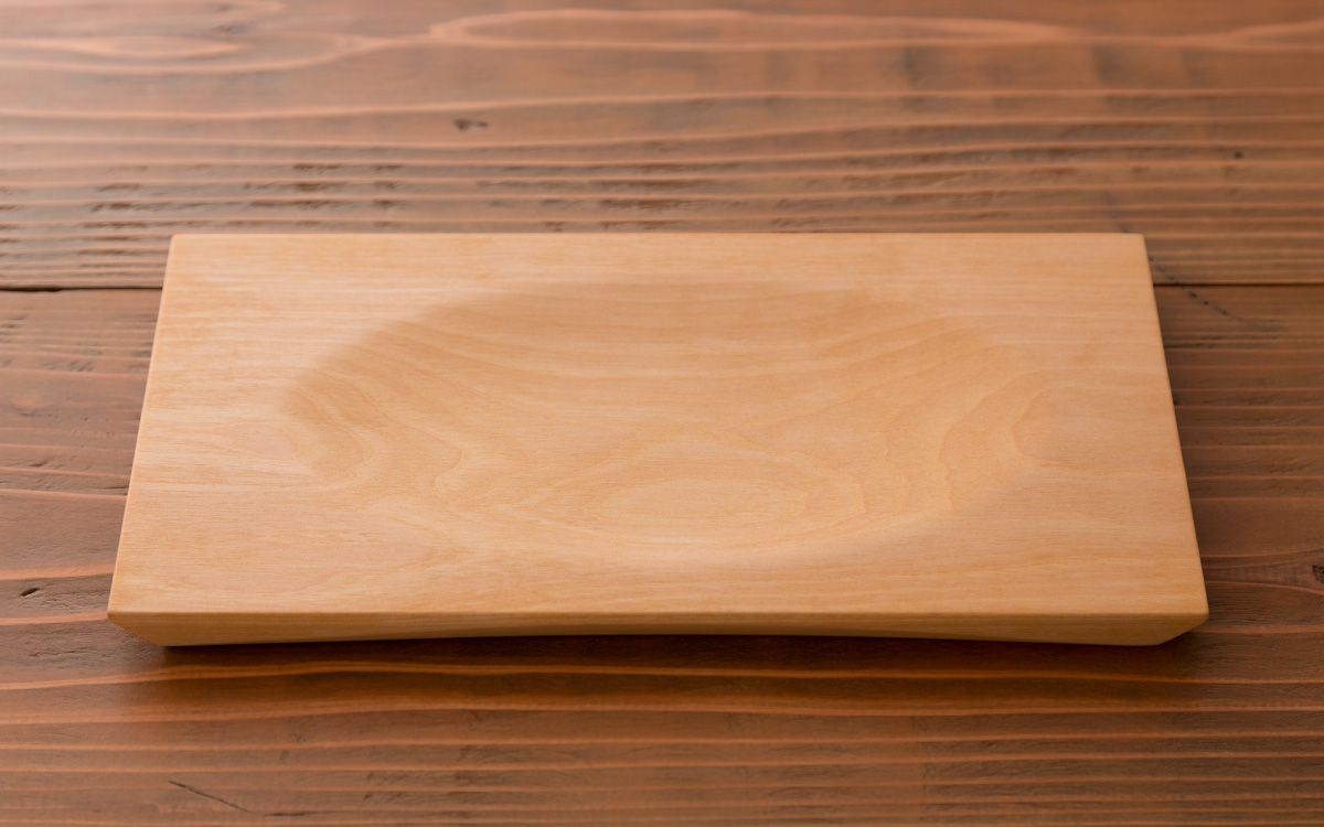 木の角皿オイル仕上げ